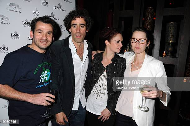 Kieron Obrien Stephen Mangan Ruth Wilson and Anna Maxwell Martin attend The Old Vic's 24 hour Play after party at the Bouda Bar on November 1 2009 in...