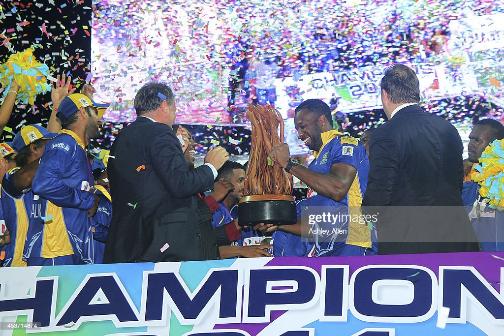 Championship Game: Guyana Amazon Warriors v Barbados Tridents - CPL 2014 : News Photo