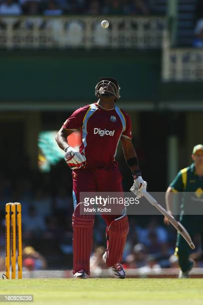 Kieron Pollard of West Indies bats during game four of the Commonwealth Bank One Day International Series between Australia and the West Indies at...