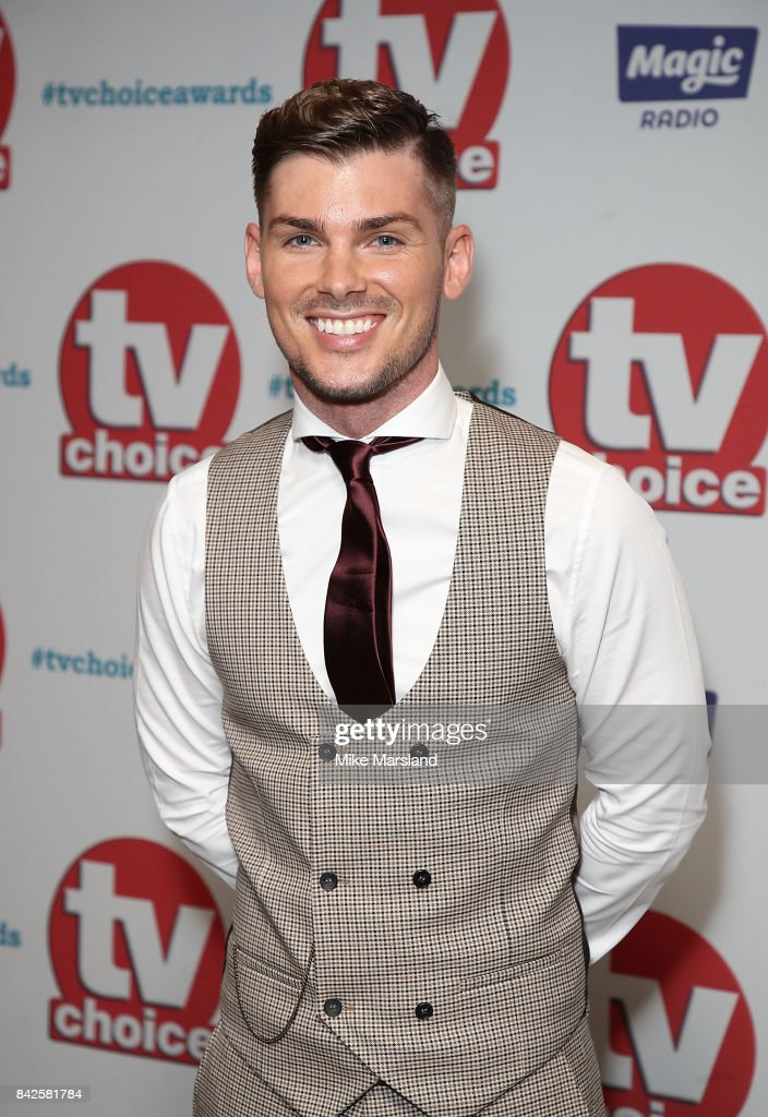 Kieron Richardson arrives for the TV Choice Awards at The Dorchester on September 4, 2017 in London, England.