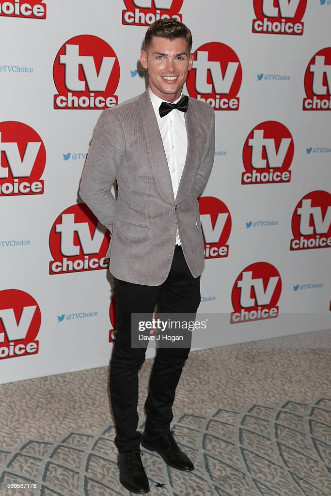 Kieron Richardson arrives for the TVChoice Awards at The Dorchester on September 5, 2016 in London, England.