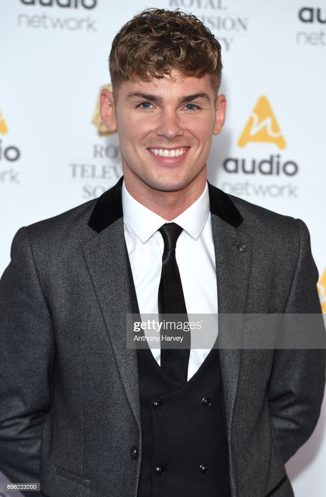 Kieron Richardson attends the Royal Television Society Programme Awards on March 21, 2017 in London, United Kingdom.