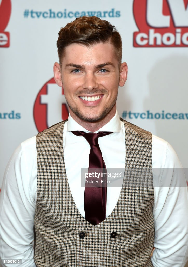 Kieron Richardson attends the TV Choice Awards at The Dorchester on September 4, 2017 in London, England.