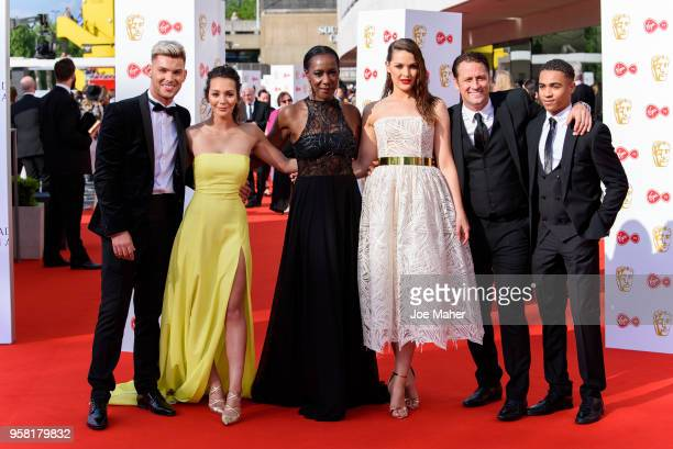 Kieron Richardson Nadine Mulkerrin Jacqueline Boatswain Anna Passey Nick Pickard and Theo Graham attend the Virgin TV British Academy Television...