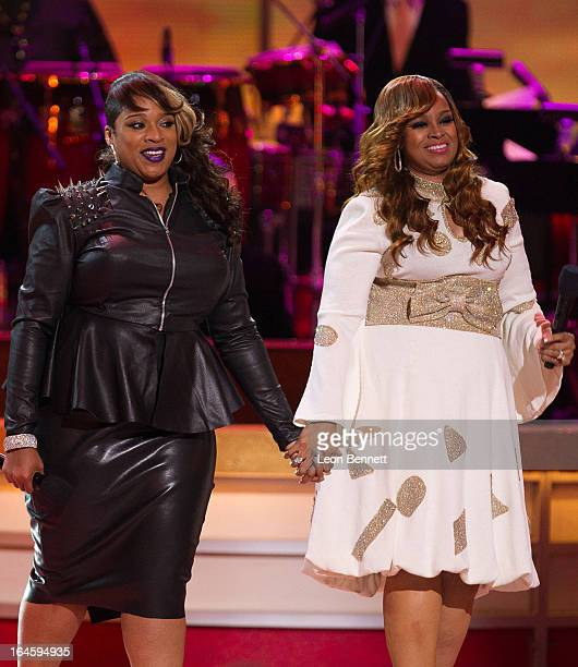 Kierra Kiki Sheard and Karen Clark Sheard performed at the BET Network's 13th Annual Celebration of Gospel at Orpheum Theatre on March 16 2013 in Los...