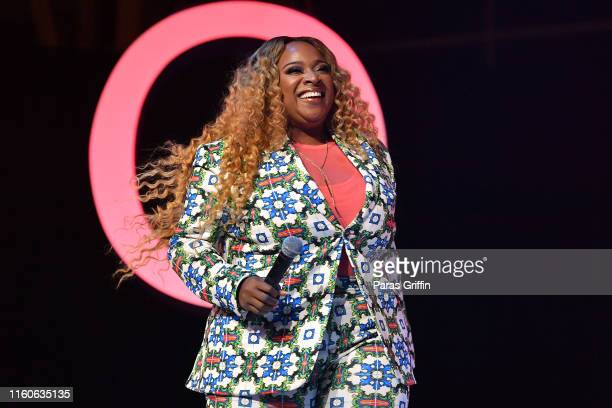 Kierra Sheard performs on stage at 2019 ESSENCE Festival Presented By CocaCola at Ernest N Morial Convention Center on July 07 2019 in New Orleans...