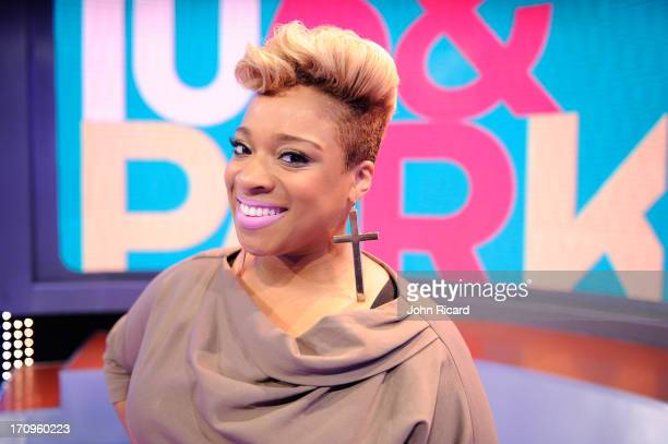 Kierra Sheard visits BET's 106 Park at BET Studios on June 19 2013 in New York City