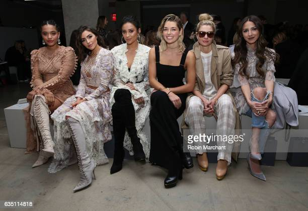 Kiersey Clemmons Olivia Culpo Shay Mitchell Ashely Hart Jessica Hart and Arielle Noa Charnas attend Zimmermann during New York Fashion Week on...