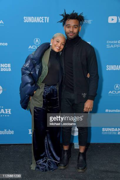 Kiersey Clemons and Justin Dillard attend the Sweetheart Premiere during 2019 Sundance Film Festival at Library Center Theater on January 28 2019 in...