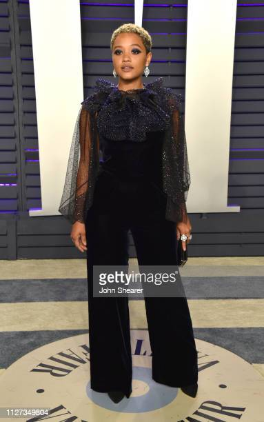 Kiersey Clemons attends the 2019 Vanity Fair Oscar Party hosted by Radhika Jones at Wallis Annenberg Center for the Performing Arts on February 24...