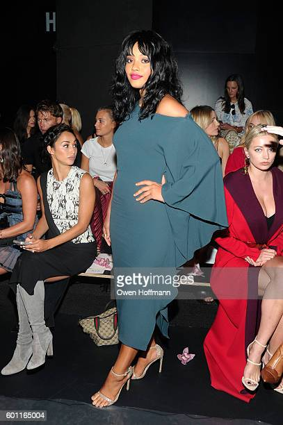 Kiersey Clemons attends the Cushnie et Ochs front row during New York Fashion Week The Shows at The Dock Skylight at Moynihan Station on September 9...