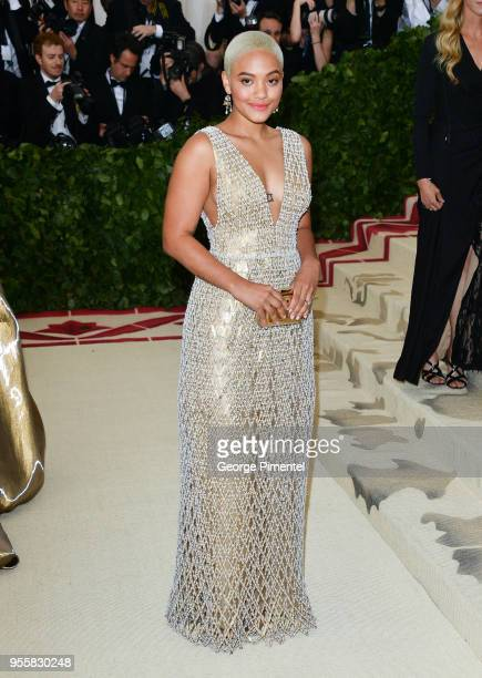 Kiersey Clemons attends the Heavenly Bodies Fashion The Catholic Imagination Costume Institute Gala at the Metropolitan Museum of Art on May 7 2018...