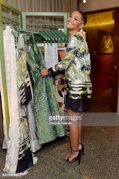 Kiersey Clemons attends the HM celebration of 2018 Conscious Exclusive collection at John Lautner's Harvey House on April 5 2018 in Los Angeles...