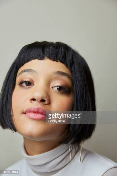 Kiersey Clemons from the film 'Hearts Beat Loud' poses for a portrait at the YouTube x Getty Images Portrait Studio at 2018 Sundance Film Festival on...