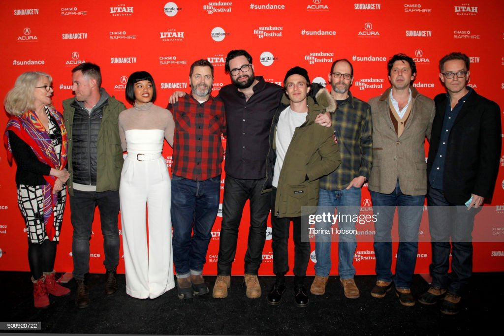Kiersey Clemons, Nick Offerman, Director Brett Haley attends the Volunteer Screening Of 'Hearts Beat Loud' Premiere during the 2018 Sundance Film Festival at Park City Library on January 18, 2018 in Park City, Utah.