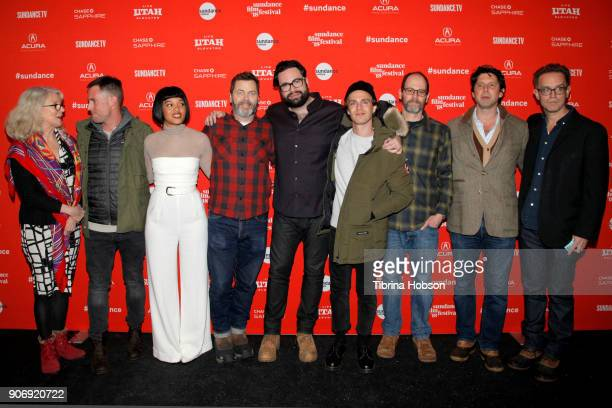 Kiersey Clemons Nick Offerman Director Brett Haley attends the Volunteer Screening Of 'Hearts Beat Loud' Premiere during the 2018 Sundance Film...