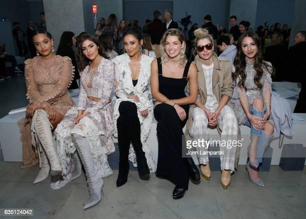 Kiersey Clemons Olivia Culpo Shay Mitchell Ashely Hart Jessica Hart and Arielle Noa Charnas attend Zimmermann fashion show on February 2017 New York...