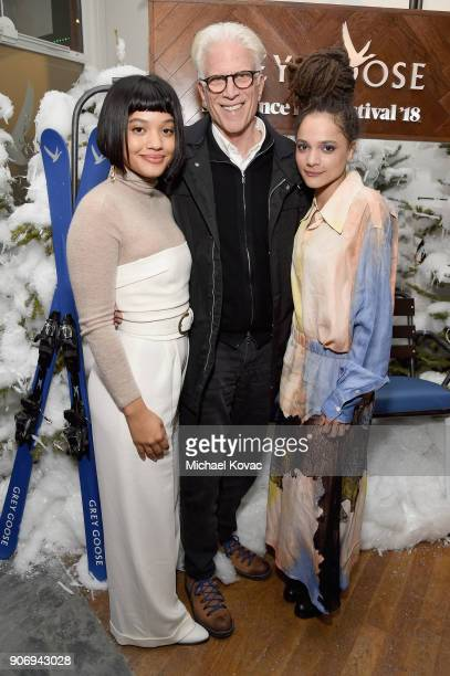 Kiersey Clemons Ted Danson and Sasha Lane attend the 'Hearts Beat Loud' afterparty at the Grey Goose Blue Door during Sundance Film Festival on...