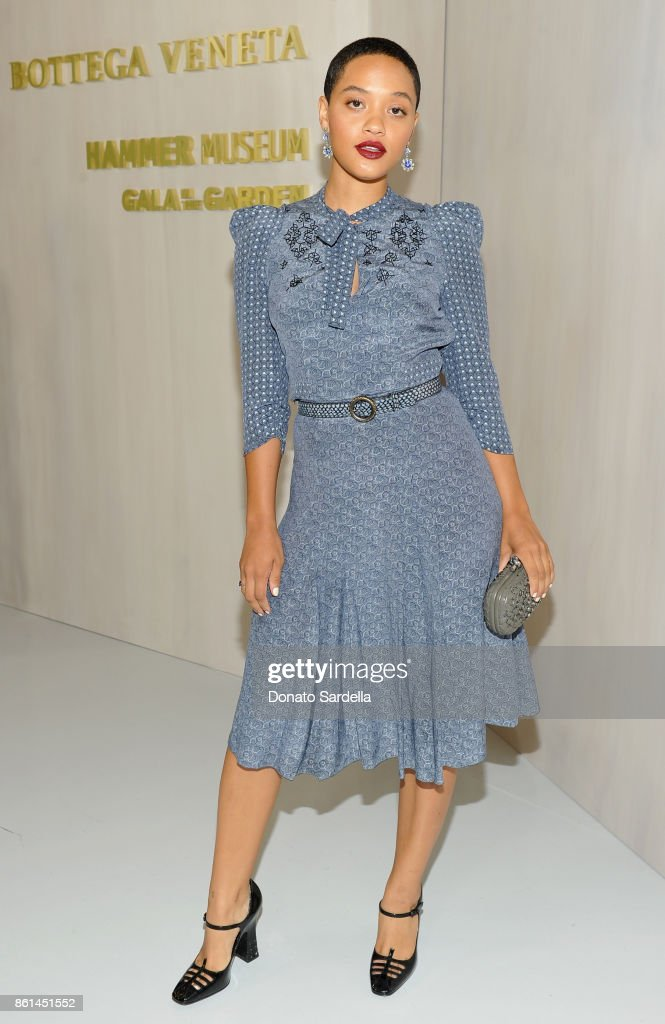 Kiersey Clemons, wearing Bottega Veneta, at the Hammer Museum 15th Annual Gala in the Garden with Generous Support from Bottega Veneta on October 14, 2017 in Los Angeles, California.