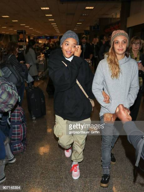 Kiersey Clewmons is seen at Salt Lake City International Airport on January 18 2018 in Park City Utah