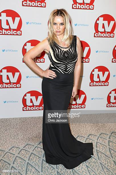 Kierston Wareing arrives for the TV Choice Awards at The Dorchester on September 5 2016 in London England