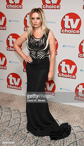 Kierston Wareing arrives for the TVChoice Awards at The Dorchester on September 5 2016 in London England