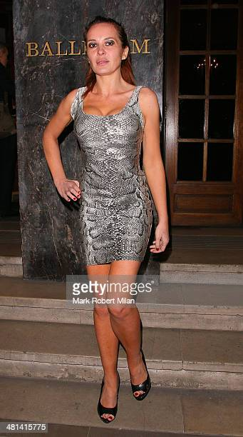 Kierston Wareing attending Attitude magazine's 20th birthday party on March 29 2014 in London England