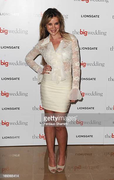 Kierston Wareing attends Special screening of 'The Big Wedding' at May Fair Hotel on May 23 2013 in London England