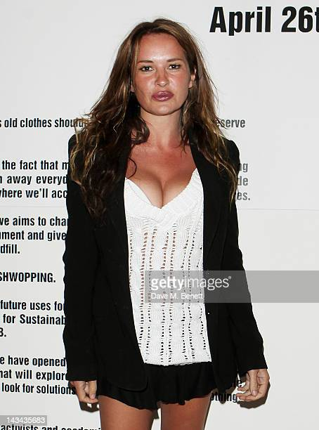 Kierston Wareing attends the launch of MS Shwopping at the Shwop Lab on April 26 2012 in London England