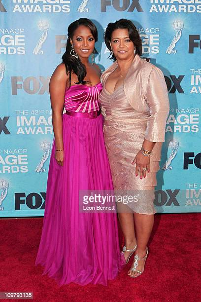 Kiesha Knight Pulliam and Denise Pulliam arrives at the 42nd NAACP Image Awards at The Shrine Auditorium on March 4 2011 in Los Angeles California