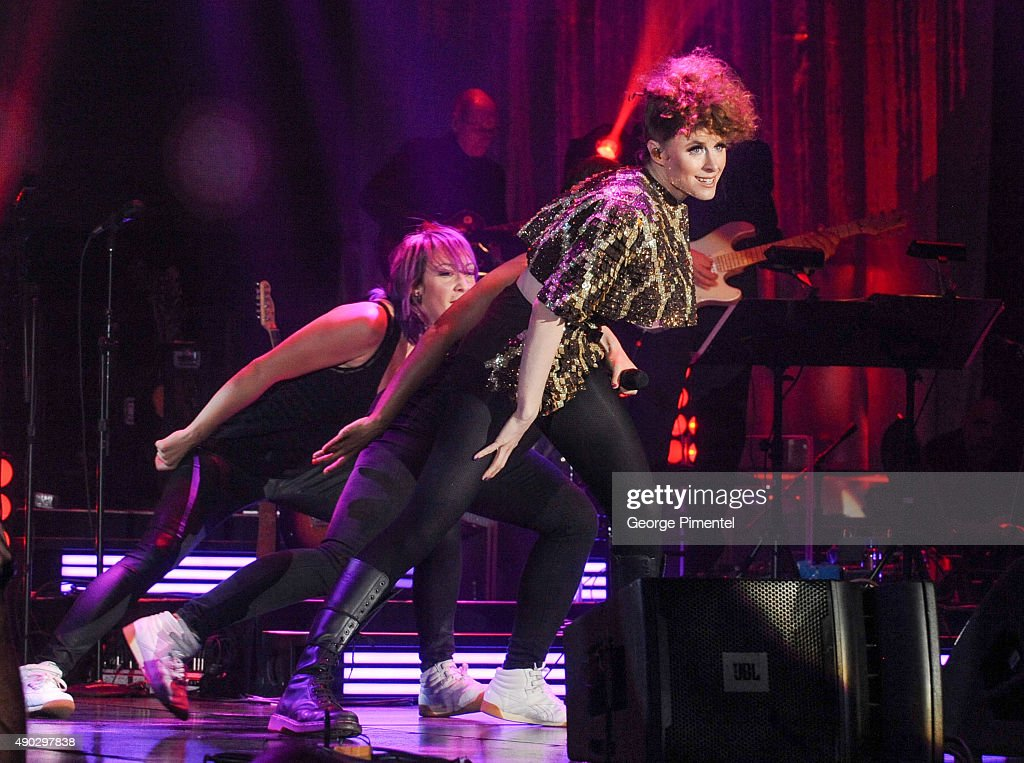 Kiesza performs at the David Foster Foundation Miracle Gala And Concert held at Mattamy Athletic Centre on September 26, 2015 in Toronto, Canada.