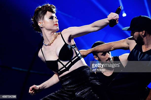 Kiesza performs at the MTV EMA's 2014 at The Hydro on November 9 2014 in Glasgow Scotland