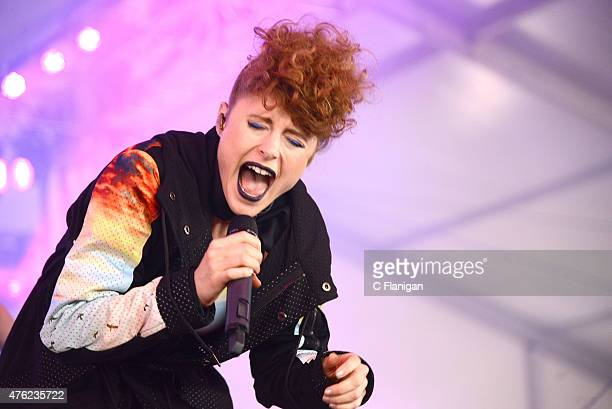 Kiesza performs during 2015 Governors Ball Music Festival at Randall's Island on June 6, 2015 in New York City.