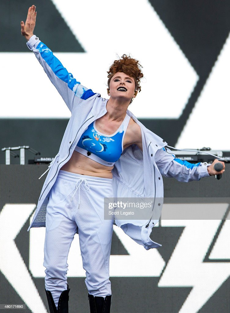Kiesza performs during the Festival D'ete De Quebec on July 9, 2015 in Quebec City, Canada.