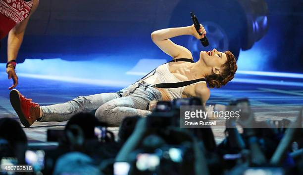 TORONTO ON JUNE 15 Kiesza performs 'Hideaway' at the Much Music Video Awards at MuchMusic on Queen Street West in Toronto June 15 2014 S