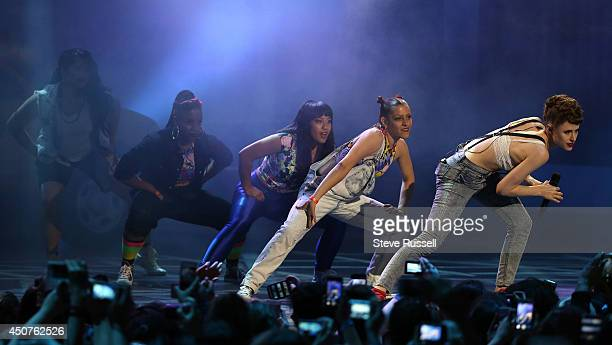 TORONTO ON JUNE 15 Kiesza performs 'Hideaway' at the Much Music Video Awards at MuchMusic on Queen Street West in Toronto June 15 2014