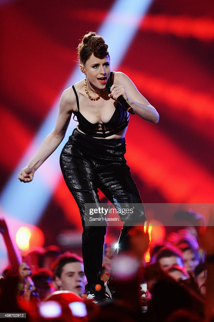 Kiesza performs on stage during the MTV EMA's 2014 at The