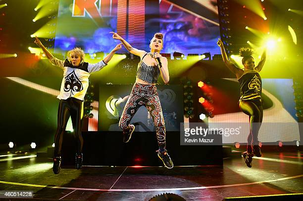 Kiesza performs onstage during HOT 995's Jingle Ball 2014 Presented by Mattress Warehouse at the Verizon Center on December 15 2014 in Washington DC