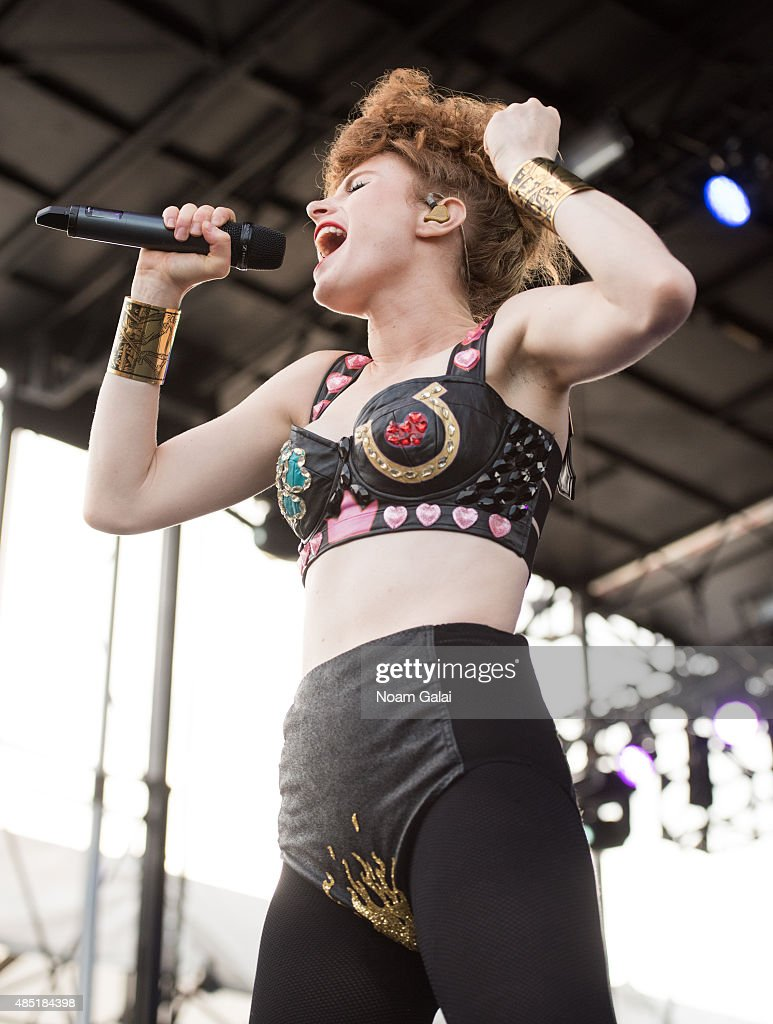 Kiesza performs onstage during the 2015 Billboard Hot 100 Music Festival at Nikon at Jones Beach Theater on August 23, 2015 in Wantagh, New York.
