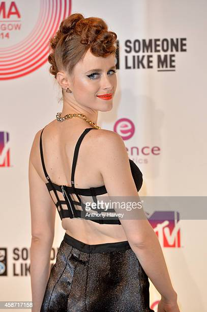 Kiesza poses in the winners room at the MTV EMA's 2014 at The Hydro on November 9 2014 in Glasgow Scotland