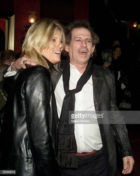 Kieth Richards and wife Patty at the New York Premiere of Robert Altman's Gosford Park in New York City on December 3 2001 photo by Gabe...