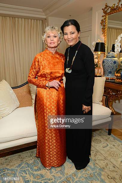 Kieu Chinh and Tippi Hedren attend the 2013 Legacy of Style Award Ceremony at The Peninsula Hotel on September 23 2013 in Beverly Hills California