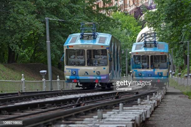 kiev funicular - gwengoat foto e immagini stock