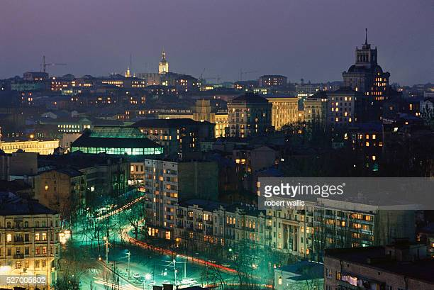 Kiev Skyline at Night
