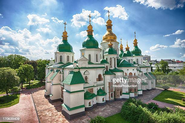 kiev sofiyiskiy cathedral - kiev stock pictures, royalty-free photos & images