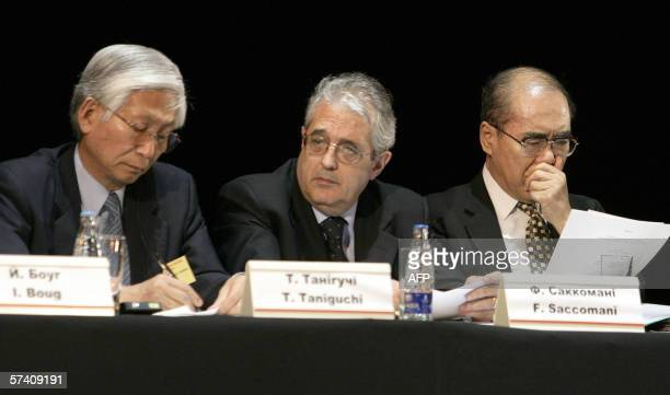 Tomihiro Taniguchi, IAEA Deputy Director General and Head of Department of Nuclear Safety and Security , Fabrizio Saccomanni, Vice President of EBRD...