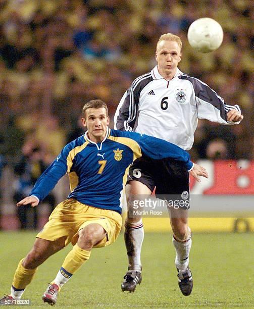 QUALIFIKATION 2001 Kiew UKRAINE DEUTSCHLAND 11 Andrei SHEVTCHENKO/UKR Carsten RAMELOW/GER