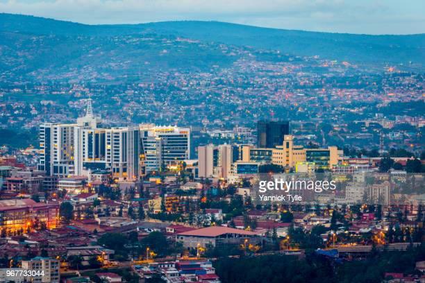 kigali city view from nyarugenge - キガリ ストックフォトと画像