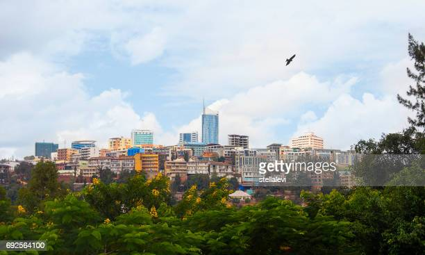 Skyline de Kigali du quartier des affaires, Rwanda