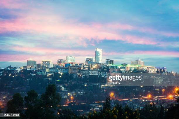kigali skyline, rwanda - east africa stock pictures, royalty-free photos & images